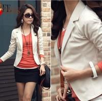 Women Blazers Fashion brand coat jacket,Lady plus size Seven-Sleeve Solid Suits slim women coat  LS172