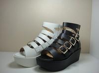 2013 women's summer shoes swing high-heeled platform shoes hasp open toe shoe 213521