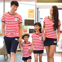 Free Shipping new 2014 baby kids clothing sets brand cartoon t-shirt+leggings skirts/shorts Family Pack,for mom,girls,boys,dad