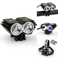 Hight Quality CREE XM-L2 2x LED 5000 Lumens Aluminum Owl Dual-use Bicycle bike HeadLight Lamp Light Black
