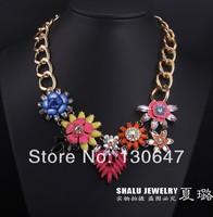 2014 new   free shipping Unique shourouk Luxury Choker pendant necklace Fashion collar jewelry high quality hotsale