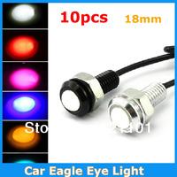 10pcs/lot Car Lights New Ultra-Thin 3W Eagle Eye Lamp LED For Daytime Running Light DRL Lamp Fog Light Waterproof Do Licence