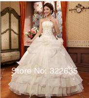 2014 the new bride wedding dress The waist wedding dress neat, beautiful waist larger flowers bitter fleabane bitter fleabane