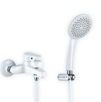 New Arrival Unique Bathroom Shower Sets Colorful Faucet with Spout White Color Mixer Tap Wholesale