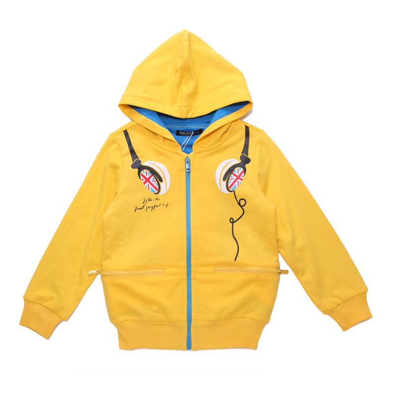 New Kids Earphone Coat Boys Hoodies Zippers Mask Jacket Size 6-15 Years NWT(China (Mainland))