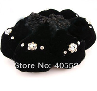 Wholesales Crochet Hair Snood Bun Cover Hairnet Ballet Dance Skating Mesh Bun Cover Rhinestone Decoration