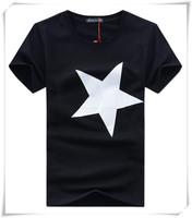 Famous New Brand Summer Beach Men's Short Sleeve T-shirt Plus Fertilizer XL Pentagram Men Short Sleeve Size  M-XXXXL