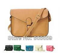 Vintage satchel women cross body leather handbag lady messenger Purse shoulder bag candy color mulher saco couro PU bolsa ombro