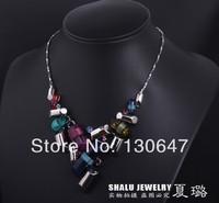 New 2014 Fashion vintage marine Set   short choker necklaces items gift jewelry christmas bijoux bijouterie