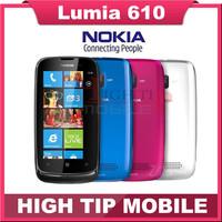 Unlocked Original Nokia Lumia 610 Windows Mobile Phone 8GB Storage Camera 5.0MP GPS Wifi 3G Refurbished free shippping SG post