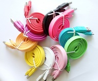 High Quality Big Noodle USB 3.0 Interface data cable For Samsung Galaxy Note 3 N9000 N9009 Series Data Sync Charge Cable
