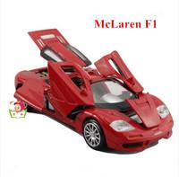 1:32 Genniue Alloy McLaren supercar toy model for children, kids sound/light/pull back racing car, six doors open +free shipping