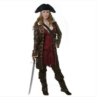 Free Shipping Masquerade Costumes Pirate Costume Upscale Movie Pirates Of  The Caribbean Elizabeth Pirate Costume