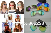 Wholesale ; UV400 Protection high quality 3025 sunglasses , men / women sunglasses , classic color reflective 58mm glass lenses