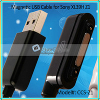 100pcs/lot, 2014 Hot Sale Magnetic USB Charger Cable for Sony Xperia Z L36H Cable for Sony Z1 Ultra XL39H