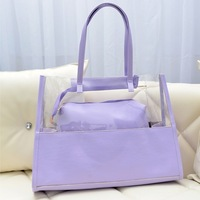 2014 women messenger bags crystal beach candy-colored bags transparent bag