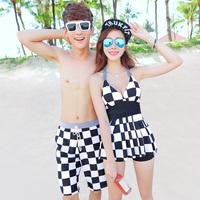 Free shipping brand bikini lovers swimwear split bikinis set male beach lovers swimsuit
