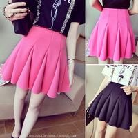 2014 spring elegant gived high waist bust skirt short skirt basic female skirt