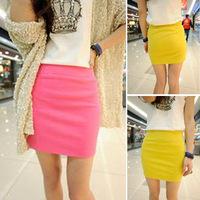 2014 spring slim hip skirt short skirt a-line skirt high waist skirt bust