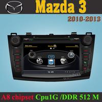Car DVD Player Radio GPS for  New Mazda3 Mazda 3  2010 2011 2012 2013 +3G WIFI + V-20 Disc + 1GB cpu+ DDR 512M RAM + A8 Chipset