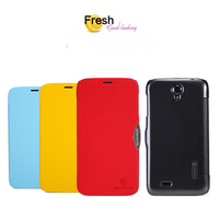 High Quality NILLKIN Fresh Series Leather Case for Lenovo A850  4Colors freeshipping +screen protector