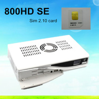 3pcs/lot Dm800 hd se Satellite Receiver dm 800se dm800se SIM2.10 card Inside  BCM4505 400Mhz Tuner DM 800 se Free Shipping