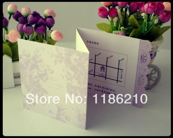 2014 novo cartão invitatin & venda quente cartão de casamento & baby shower tecido dobrável cartões de convite de casamento(China (Mainland))