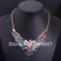 2014 New Design Fashion Gothic Black Beads Statement Choker Necklaces Designer Costume Jewelery