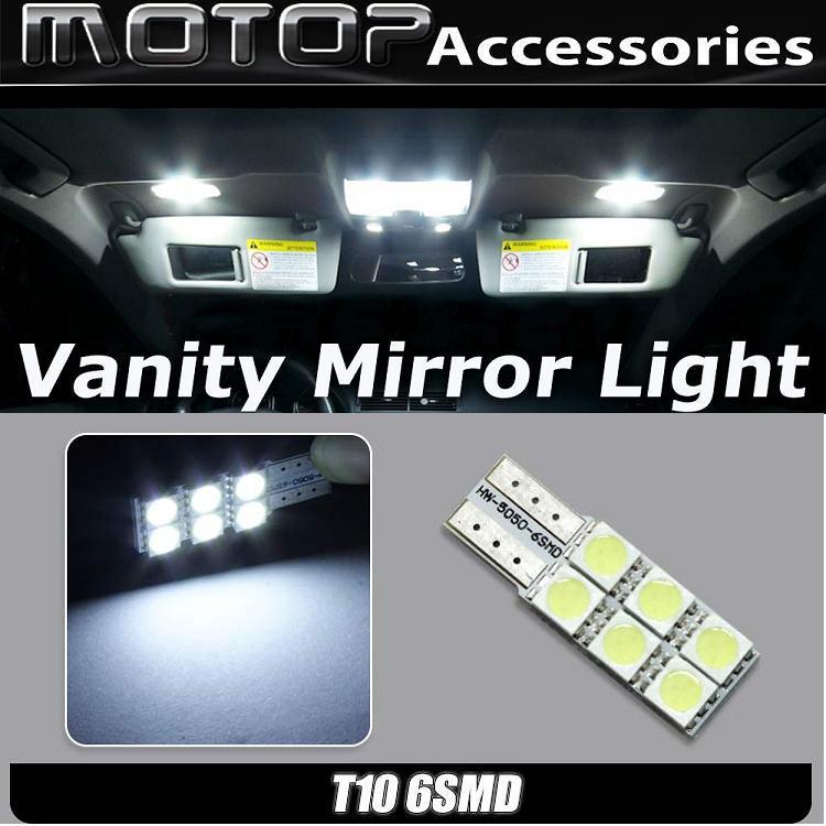 Volvo Vanity Mirror Lights : Car Led Bulb Yellowbluewhiteredgreen Light 12v 2pcs Lot Bed Mattress Sale