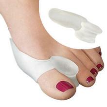 2pair 4pcs = caliente suave Escarabajo - trituradora del hueso Ectropión Toes exterior Silica Gel Appliance Toes Separación Productos para el Cuidado de la Salud(China (Mainland))