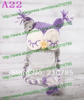 Free shipping,Cute baby crochet Purple Owl hat Handmade newborn baby children photography props