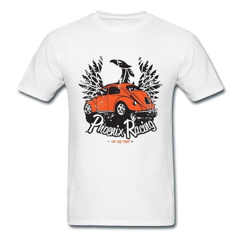 cotton man tshirt racing car printing funny photos t shirts for mens