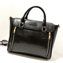 2013 fashion casual fashion double zipper one shoulder handbag big bags bag women's handbag(China (Mainland))