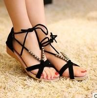 new arrival women sandals flat heel sweet summer single shoes soft bottom girls sandals slippers free shipping