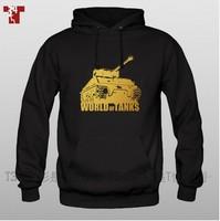 World war ii military The game tanks The world World of tanks Pure cotton fleece Set head Men's fleece sport coats