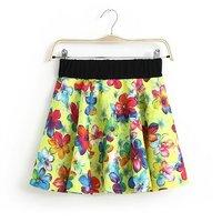 2014 spring new large flower print elastic waist skirt skirts skirt dt-2349