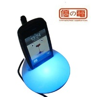 Free Shipping 4 Ports USB2.0 USB HUB Mobile Phone Holder/Stand With Night Light Message Board