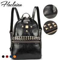 Factory direct selling the new 2014 HAOLAINU brand backpack,leather fashion women bag,backpack, kids backpack,4 color wholesale