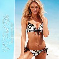 Free shipping 2014 Brand New arrival sexy zebra skin push up bikini set swimwear women swimsuit beach bathing suit