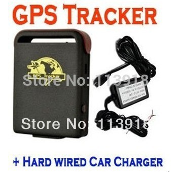 Free shipping(10pc/lot)GPS Tracker TK102+HARD WIRE charger+1pc battery(Special version, no other accessories and retail packing)(China (Mainland))