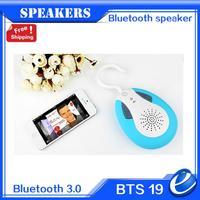 2014 HOT Waterproof bluetooth speaker /shower wireless bluetooth radio /auto FM  radio BTS -19 With hook for iphone ipad samsung