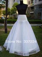 white Retro Underskirt Vintage wedding bridal Petticoat slips 1 hoop crinoline