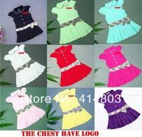 Children Fashion Princess Dress, Plaid Print and Bow Design, Girls Brand Dresses 100%Cotton Kids Girl Tennis Dress, 1-12Year