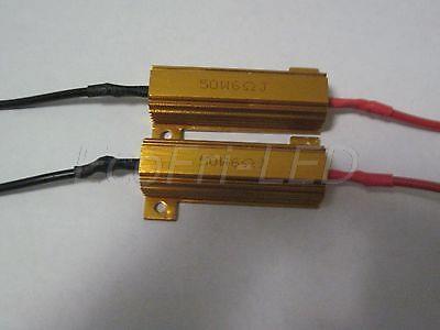 2x Led Load Resistor 6ohm 50W Fix LED Lamp Bulb Fast Flash Turn Signal brake running light Blink Flashing(China (Mainland))