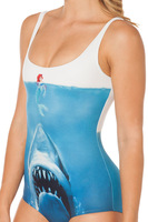 Hot New 2014 One piece Sexy swim suits shark print beach swimwear women Summer Swimsuit monokini  maillot de bain YY023