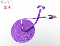 free shipping 3M Noodle Flat Micro USB Charger Cable Cord For Samsung Galaxy S2 S3 i9100 i9300 S5830