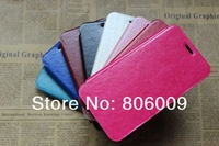 Thin Leather Case Cover for Samsung S5 I9600, 50pcs free DHL/EMS