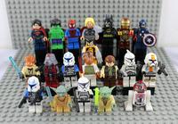 Toys Building Block Super Heroes Star War Mini Figures 20pcs Set Thor Dolls Xman Spiderman Superman Hulk Ironman Free shipping