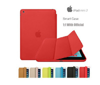 10pcs/lot.New Perfect1:1 Original 7.9 inch Smart Cover Case For Apple iPad mini 2 2G Retina Display Ultra thin Slim Leather Case