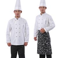 10sets [Cap-top-apron] Cook suit after the work wear  long-sleeve cook suit chefs uniform  chef uniforms full set free ship